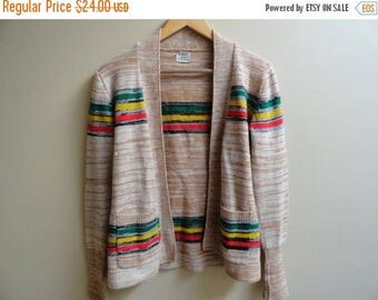SALE Colorful Vintage Sweater 70s size S Small