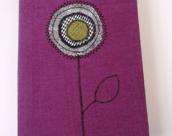 Purple Fabric Covered Notebook -RIB002