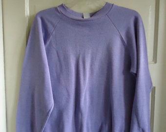 Vintage 70s/80s Super Thin PURPLE Crewneck Sweatshirt sz S/M