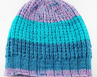 READY TO SHIP - Favorite Beanie! -Color Block Pop Fizz Ribbed Slouchy Knit Beanie