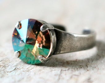 Purple Haze | Swarovski Ring | Purple Haze Ring | Swarovski Crystal | Minimalist Ring | Round Ring | Wedding Jewelry | Gift For Her