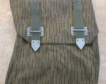 Vintage Thick Canvas East German 4-Cell AK-47 Magazine Mag Shell Ammo Pouch