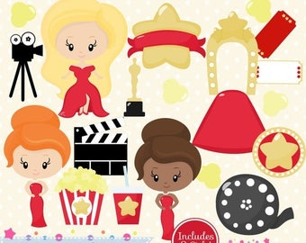 65 % OFF SALE Red carpet clipart Hollywood clipart Oscar