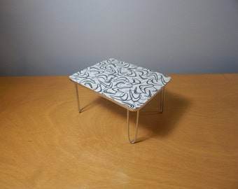 1/12 Scale Miniature Retro Mid-century Modern Dining Kitchen Table
