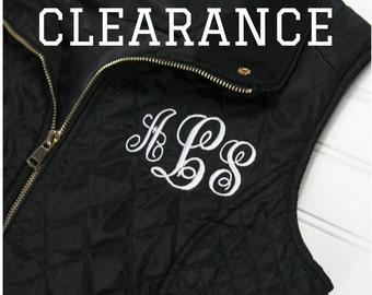 Women's Quilted Vest - Ladies Monogram Vest - Black Puffer Vest - Personalized Vest for Women - Valentines Gift for Women - Ladies Fall Vest