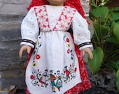 18 Inch American Girl Doll Red Ethnic Costume by Project Funway on Etsy