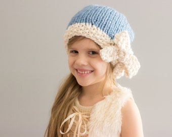 Slouchy Hat with Bow || Children & Adult sizes