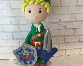 Polymer clay Zelda inspired ornaments, Link inspired, Christmas ornaments,handmade,Polymer clay figurines, cake toppers,children,kids.