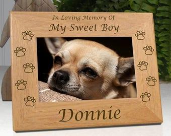 Dog Memorial Frame - In Loving Memory Of My Sweet Boy ..or.. In Loving Memory Of Our Sweet Boy