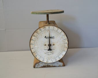 Vintage Auto Wate Scale ~ Farmhouse Scale ~ 25 LB Scale ~ Household Scale ~ Epsteam