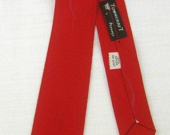 Vintage 50s-60s Red ~TOWNCRAFT~ Thin Skinny Necktie Cravat