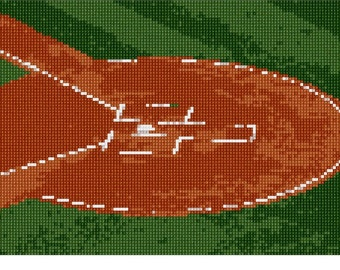 Needlepoint Kit or Canvas: Home Plate