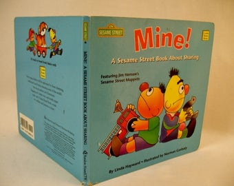 Sesame Street Book About Sharing with Bert and Ernie Muppets Childrens Book