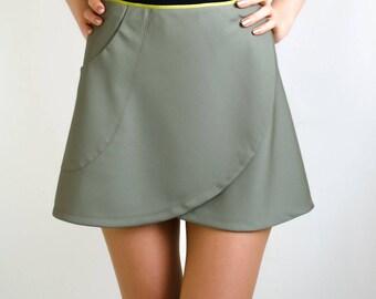 Moss green skirt