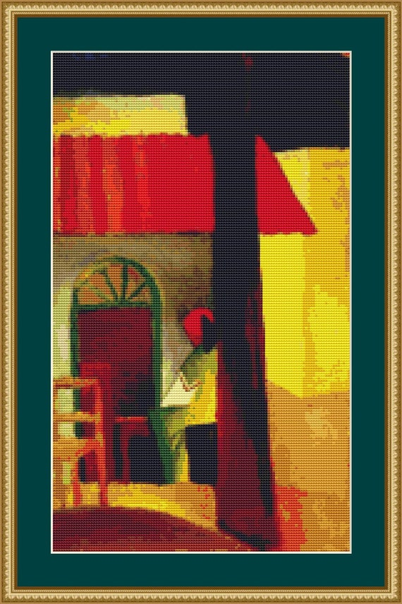 Turkish Cafe Cross Stitch Pattern /Digital PDF Files /Instant downloadable