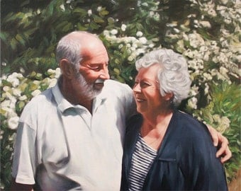 Custom Portrait - Personalized Art Gift - Family Painting on Canvas from Your Photo