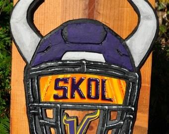 SKOL Vikings! Helmet Sculpture