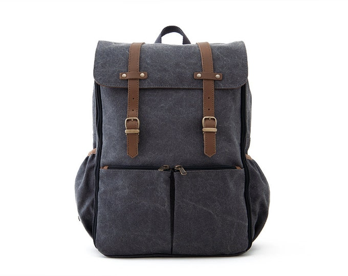 CARRYALL Moms & Dads Diaper Bag / Gray Canvas