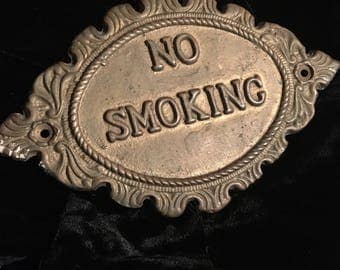 Antique No Smoking Train Sign!!! Very Cool!!!