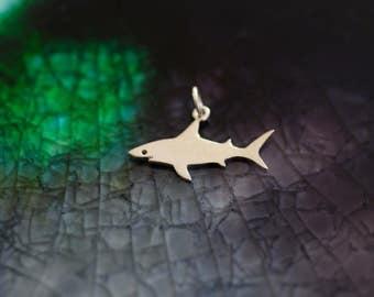 Shark Charm - Sharks - Ocean Theme - Beach Theme - Ocean Charm - Silver Shark - Sterling Charm - Shark Jewelry