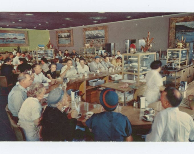 Vintage Postcard of Coffee Shop: Covey's Little America, Granger, WY c1950s (75574)