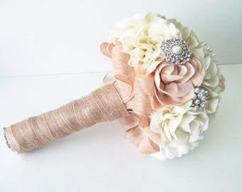 Reserved for Jocelyn /  Bridal Fabric Bouquet /  Brooch Bouquet / The Southern Girl Bridal Bouquet