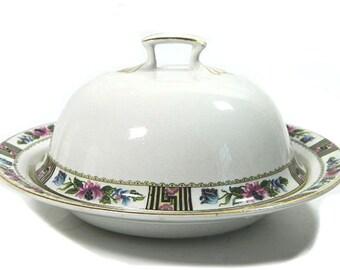 Vintage J & G Meakin Art Deco Butter Dish