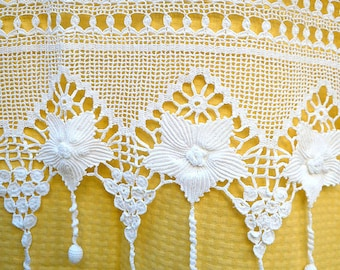 Handmade crochet curtain with atrante and lace -0001913 design 2727