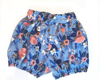 Rifle Paper Co Les Fleurs Cotton Bloomers Made to Order for Girls  sizes 3 months - 3t