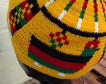 Rasta Jamaican Knit Beanie Skull Cap Hat
