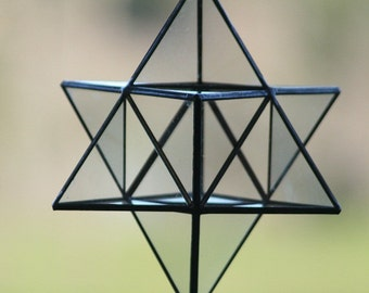 Merkaba Stained glass Sacred geometry Star tetrahedro