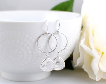 The Jazmine Earrings - Crystal