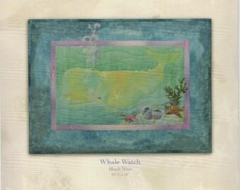 McKenna Ryan Quilt Pattern, Beach Walk, Whale Watch (Block 9)