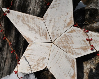 Rustic Reclaimed Wooden Star, Home Decor Star, Vintage  Star.