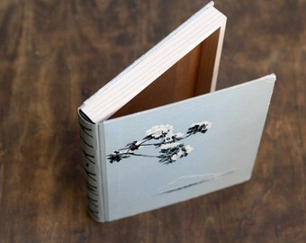 "Hollow Book Treasure Box Sherlock ""Flowers"", Recycled Book Box"