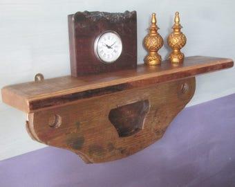 Old Shelf / Reclaimed Wood / Salvaged Shelf / Vintage Shelf / Small Shelf / Wall Shelf / Wood Wall Shelf / Handmade Shelf / Recycled Shelf