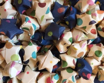 230 Origami Stars, Polka Dot, Multicolored Polka Dots,  Great For Party Decor