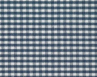 High Quality Fabric Finders Navy Gingham