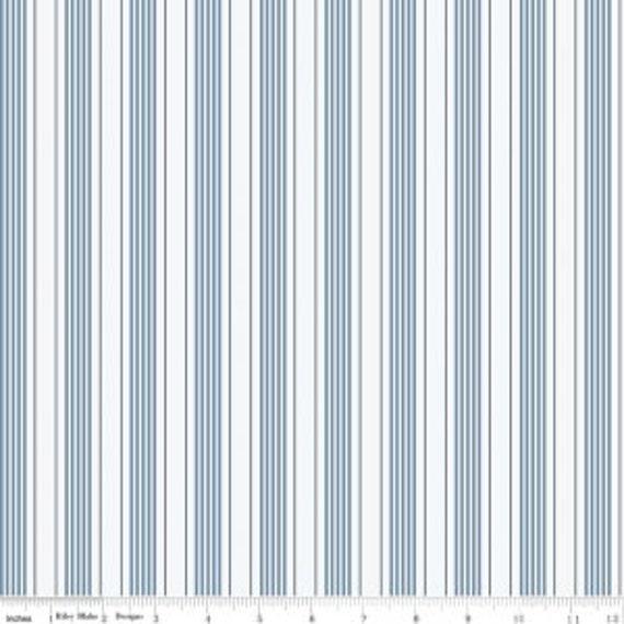 High Quality  Riley Blake Designs Sea Stripe Blue, Beautiful fabric!