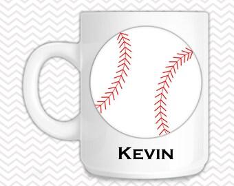 Baseball Mug - Personalized Baseball Mug - Customized Mug - Melamine Cup - Personalized Kids cup