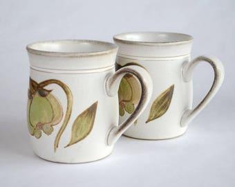 Pair of Denby Troubadour Coffee or Tea Mugs