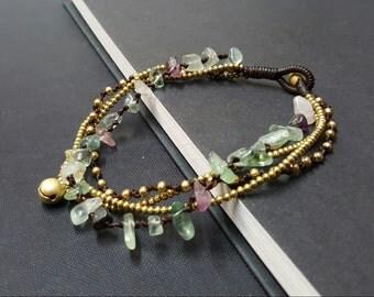 Fluoride Brass Chain Anklet