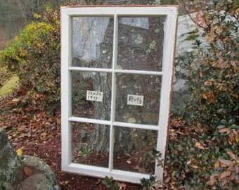 34 x 22 Antique Vintage Window sash Original 6 pane frame  from 1917