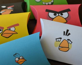 6 Angry Birds Favor Box Printables, Angry Birds Party Bag, Angry Birds Birthday Printables, Angry Birds party favors