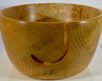 960 Yarn bowl, made from Highly Figured Spalted Big Leaf Maple Burl