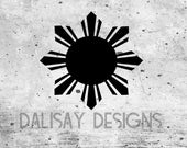 Filipino Sun Vinyl Decal