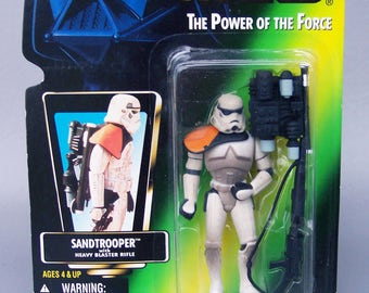 Vintage Star Wars 1996 Sandtrooper (MOC) Mint on Card POTF