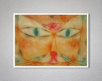 Cat and Bird by Paul Klee, 1928 - Poster Paper, Sticker or Canvas Print