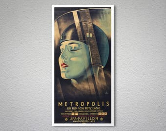 Metropolis Vintage Movie Poster - Poster, Sticker or Canvas Print