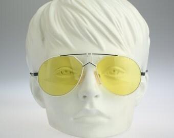 Rodier M125 312, Vintage aviator sunglasses, 80s unique and rare / NOS